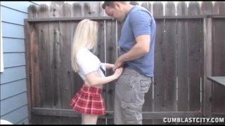 Blonde Schoolgirl Cum Blasted