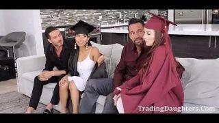 Fathers Treat Graduated Daughters- Danni Rivers & Jada Kai
