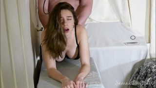 Hot brunette Samantha Flair fucked by Step dad hard
