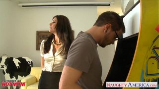 Stockinged Milf  mom India Summer gets fucked and facialized